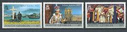 243 SUD GEORGIE 1977 - Yvert 56/58 - Elizabeth II Memorial Abbaye - Neuf **(MNH) Sans Charniere - Géorgie Du Sud
