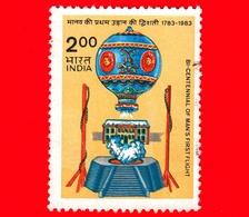 INDIA - Usato - 1983 - 200 Anni Del Volo Dell'uomo - Mongolfiera - Flight - Balloon -  2 Rp - Usati