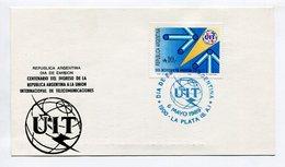 CENTENARIO DEL INGRESO DE LA ARGENTINA A LA UNION INTERNACIONAL DE TELECOMUNICACIONES 1989 TARJETA FDC OBLITERES - LILHU - Telecom