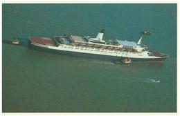 Falkland Islands, Postcard, Falklands Task Force, Nr.38, QE2 Sets Sail For The South Atlantic, Mint, Uncirculated- AT-73 - Militaria