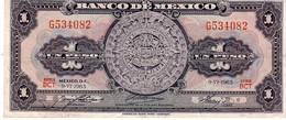 Mexico P.59 1 Peso 1965 Unc - Messico
