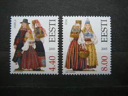 National Costumes # Estonia Estonie Eesti # 2005 MNH # Mi. 533/4 - Estonia