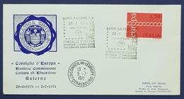 1971 Cover, Salerno Italy - Strasbourg, Consiglio D'Europa - 1946-.. République