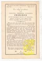 DP Virginia Th. Zeurinck ° Ieper 1848 † 1886 - Devotieprenten