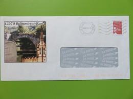 PAP - Entier Postal - Marianne Luquet - Repiquage Belmont S/Rance (12) - Eglise La Collégiale - Cachet à Date 26.07.04 - Postal Stamped Stationery