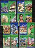 Wirtschaft 1984 Libyan 1389/04 4x ZD ** 12€ Architektur 15 Jahre Revolution Hojas M/s Work Sheets Se-tenants Bf LAR - Jobs