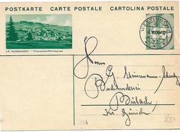 """164 - 33- Entier Postal Avec Illustration """"Le Noirmont"""" Avec Cachet à Date Wettingen 1934 - Stamped Stationery"""