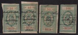 Colonie Portugaise - Cabo Verde Guine Portugueza - Timbre Fiscal - Imposto Do Sello - 10 40 50 Et 100 Reis - Fiscaux