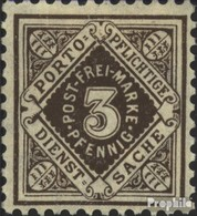 Württemberg D113 Neuf Avec Gomme Originale 1906 Numéros Dans Diamond - Wuerttemberg