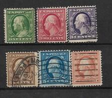 E312-UNITED STATES -1908-PREZIDENT BENJAMIN FRANKLIN162, GEORGE WASHINGTON - CAT. MICHEL NUMMER 163-167-Used Stamp - United States