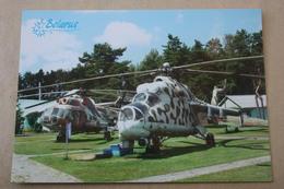 Belarus. Museum Of Aviation Technique.  Helicopter MI-2, MI-24p, MI-8 - Modern  Postcard 2012 - Hubschrauber