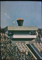 Tokyo -- Anchorman Yoshinori Sakai Aloft The Olympic Torch    --  1964 - Tokyo