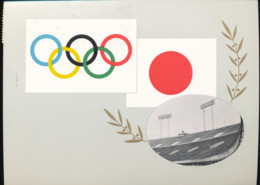 Tokyo -  Signatures Delegation Francaise Gymnastique   -    1964 - Tokyo
