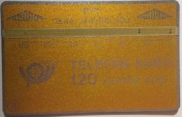 TURKEY : LG02A 120 U 4/4mm Band (dark Yellow, Dark Band) USED - Turquie
