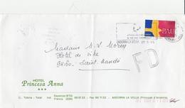 LSC 1995 - Timbre Et Flamme ANDORRA LA VELLA - Au Dos Cachet Et Flamme LAMOTTE BEUVRON - Briefe U. Dokumente