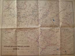 Carte De L'annapurma & Dhaulagiri -2 Scans - - Cartes Géographiques