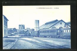 CPA Herbignac, La Gare, Vue De La Gare - Herbignac