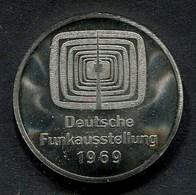 (1847) Deutsche Funkausstellung 1969, STUTTGART KILLESBERG, Medaille, Siehe Fotos - Souvenirmunten (elongated Coins)