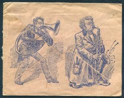 1906 Brazil Leite Junior & Co,Para. Musica Illustrated Musical Instruments Advertising Cover - Paris.Saxaphone, Trombone - Brazil