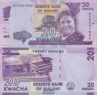 Malawi Pick-number: 63c Uncirculated 2016 20 Kwacha - Malawi
