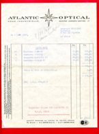 FACTURE (Réf : D603) ATLANTIC (AO) OPTICAL - SAINTES - 1950 - ...