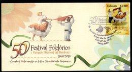 COLOMBIA- KOLUMBIEN- 2010 FDC/SPD. 50TH NATIONAL FOLKLORE FESTIVAL, NEIVA CITY. - Kolumbien