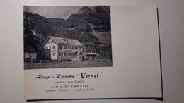 """Dolomiti, Val Di Fassa - Penia Di Canazei - Albergo Ristorante """"Vernel"""" - Non Viaggiata - Trento"""
