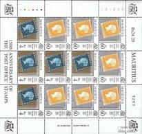 Mauritius 839+840 Kleinbogen (kompl.Ausg.) Postfrisch 1997 150 Jahre Briefmarken - Mauritius (1968-...)