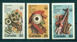 Canada, 1976, Olympic Summer Games Montreal 1976, Sports, Music, MNH, Michel 621-623 - Non Classés