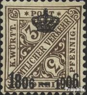 Württemberg D218 Favor Dévaluation Oblitéré 1906 Numéros Dans Signs - Wurttemberg