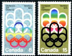 Canada, 1973, Olympic Summer Games Montreal, Sports, MNH, Michel 532-533 - Non Classés