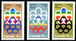 Canada, 1974, Olympic Summer Games Montreal, Sports, MNH, Michel 556-558 - Non Classés