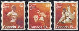 Canada, 1975, Olympic Summer Games Montreal, Fencing, Boxing, Judo, MNH Set, Michel 602-604 - Non Classificati