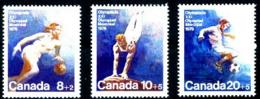 Canada, 1976, Olympic Summer Games Montreal, Soccer, Basketball, Gymnastics, MNH Set, Michel 617-619 - Non Classés