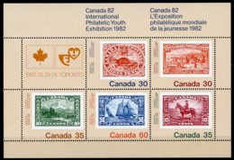 Canada, 1982, Stamp Exhibition, Stamps On Stamps, MNH, Michel Block 2 - Non Classés