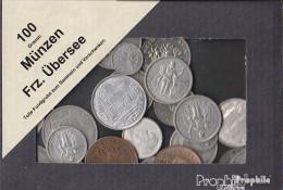 Frankreich Münzen-100 Gramm Münzkiloware Französische Überseegebiete - Münzen & Banknoten