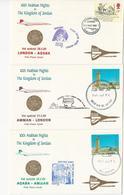 Concorde - Lot 3 Enveloppes - LONDON - AQABA - AMMAN - LONDON - Concorde