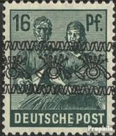 Bizonale (Allied Cast) 42I K, Acant La Tête En Bas Surcharge Avec Charnière 1948 Volume D'impression - Bizone