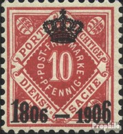 Württemberg D110 Avec Charnière 1906 Anniversaire - Wuerttemberg
