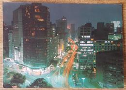 São Paulo - Brasil - Vista Noturna Da Avenida Ipiranga  Vg 1980 - São Paulo