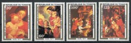 Chad, 1977, Christmas, Rubens Paintings, Peintures, MNH, Michel 817-820 - Tschad (1960-...)