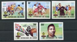 Chad, 1977, Soccer World Cup Argentina, Football, MNH, Michel 811-815A - Chad (1960-...)