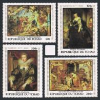 Chad, 1978, Rubens, Paintings, Peintures, MNH Perforated Set, Michel 835-838 - Chad (1960-...)
