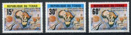 Chad, 1980, ASECNA, Aviation Safety, MNH, Michel 883-885 - Chad (1960-...)