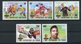 Chad, 1977, Soccer World Cup Argentina, Football, MNH Imperf, Michel 811-815B - Chad (1960-...)