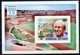 Chad, 1978, Soccer World Cup Argentina, Football, MNH Imperf, Michel Block 70B - Chad (1960-...)