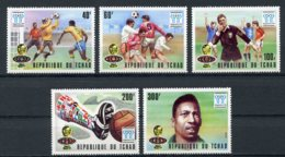 Chad, 1978, Soccer World Cup Argentina, Football, MNH Silver Overprint, Michel 841-845 - Tschad (1960-...)