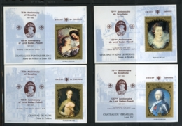 Chad, UNICEF, IYC, United Nations, Paintings, Scouting, Baden Powell, 4 MNH Imperf Sheets - Chad (1960-...)