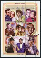 Chad, 1998, Frank Sinatra, Grace Kelly, Singer, Actor, Music, Musician, MNH Sheet, Michel 1788-1796A - Chad (1960-...)