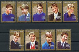 Chad, 2001, Prince William, Royal Family, MNH, Michel 2219-2227A - Chad (1960-...)